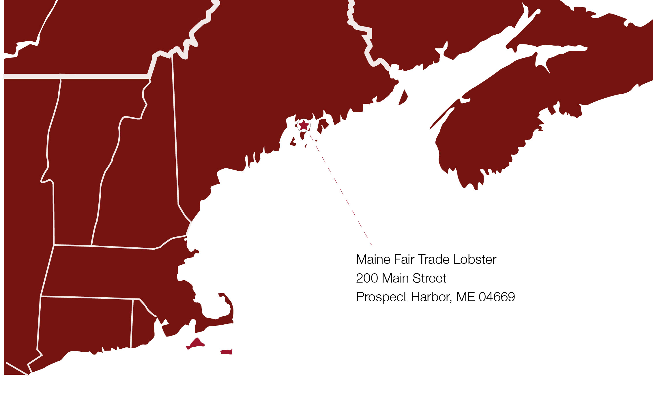 North East Map Maine Fair Trade