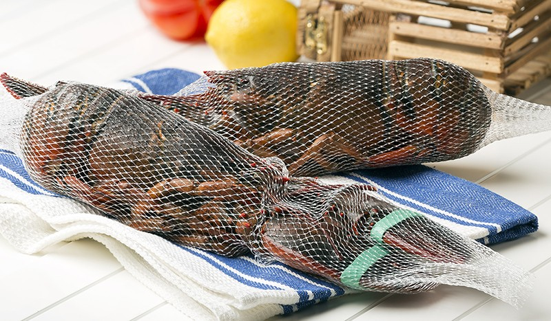 Whole Cooked Netted Lobsters, Frozen